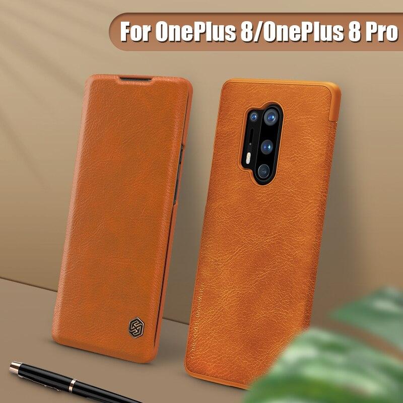OnePlus 8 Pro Fall NILLKIN Vintage Qin Flip Abdeckung Brieftasche PU Leder PC Zurück Abdeckung für Oneplus8 Pro Fall Ein plus 8 Pro Fundas
