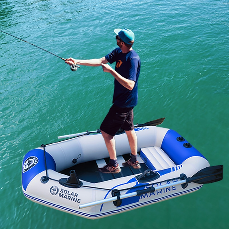 1 persona, bote de pesca de 175cm, bote inflable de seguridad de 0,7mm, Kayak de remos de PVC, canoa, balsa, bote de pesca, barco de agua, tabla de suelo