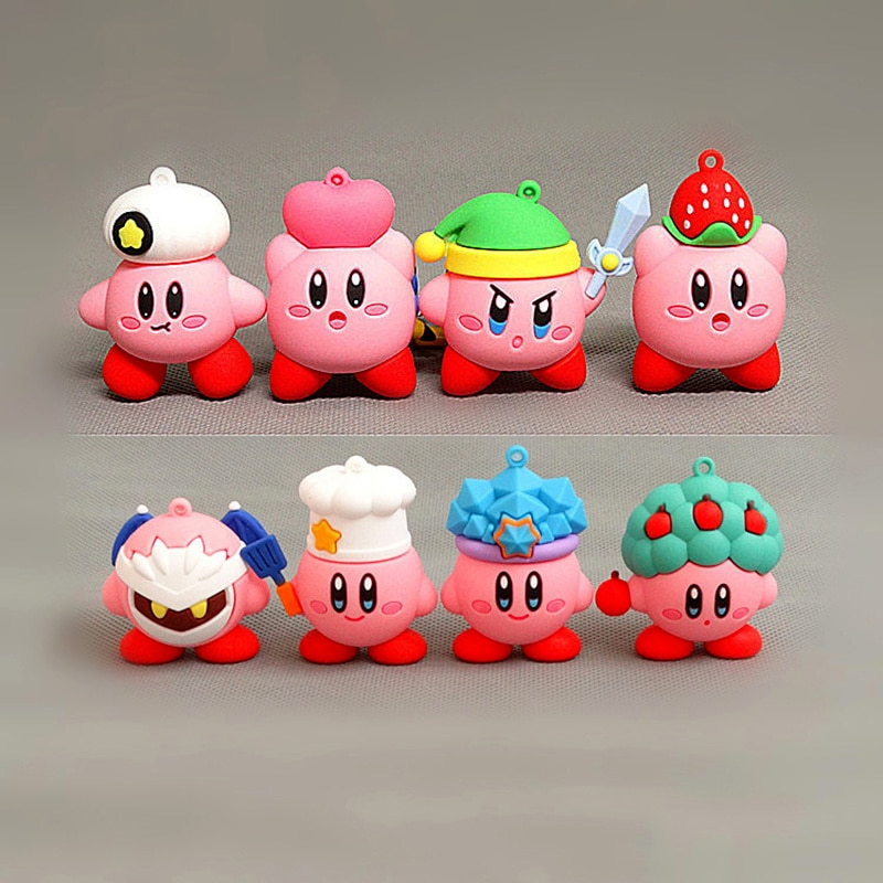 Фото - Kirby anime games cute cartoon Pink kirby Waddle Dee Doo collect mini toys dolls PVC action toy figure for kids birthday gifts matthew j kirby taste for monsters