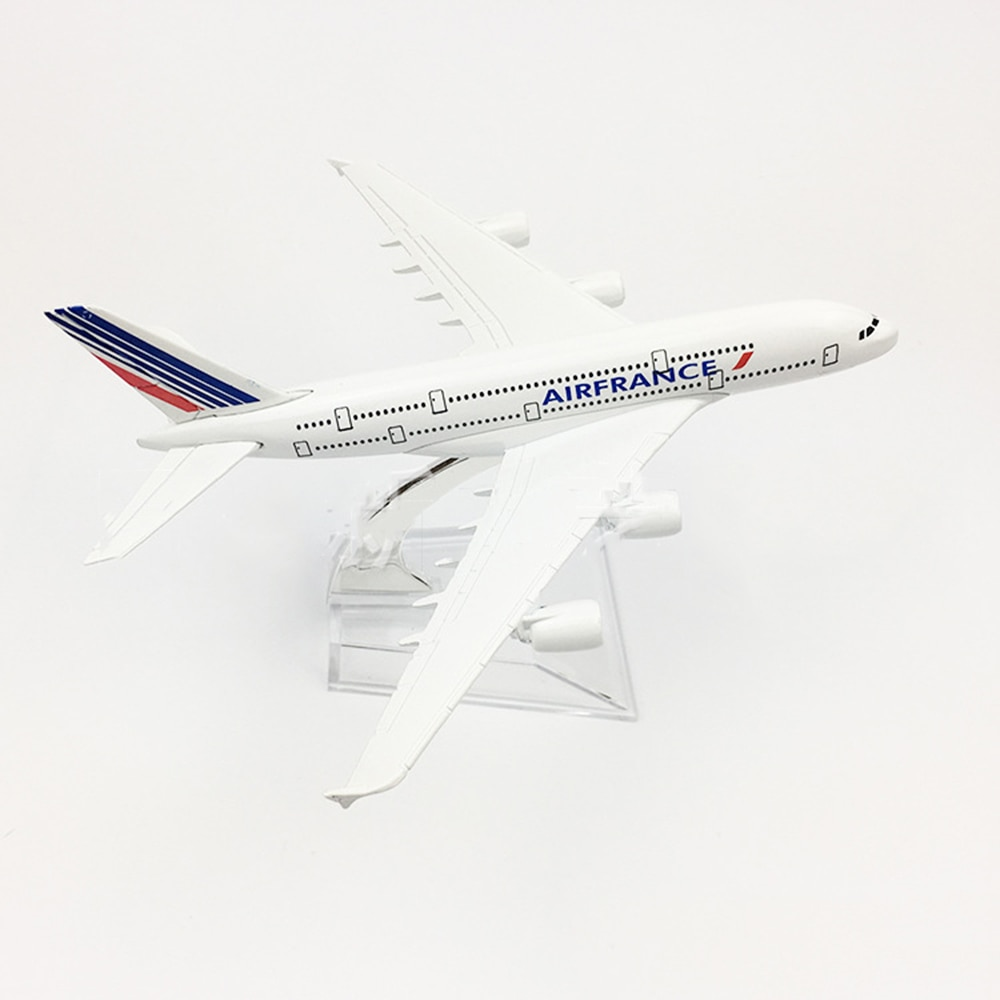 1/400 Scale Alloy Aircraft Airbus A380 Air France 16cm Plane Model Toys Decoration Children Gift Collection