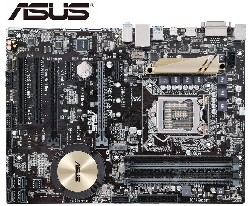 ASUS-placas base Z170-P DDR4 LGA 1151, USB3.0, USB2.0, HDMI, compatible con 64GB,...