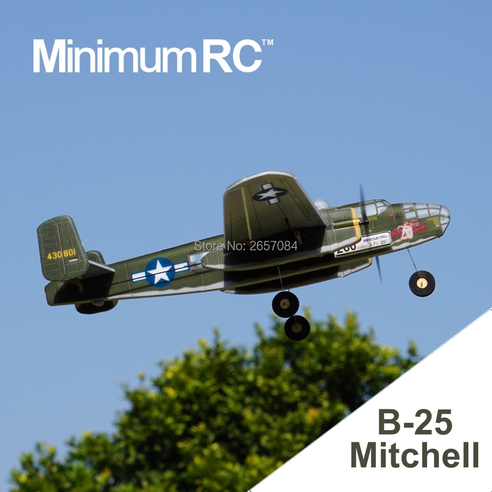 MinimumRC B25 Twin-engine bomber 360mm Wingspan 3 Channel Trainer Fixed-wing RC Airplane Outdoor Toy