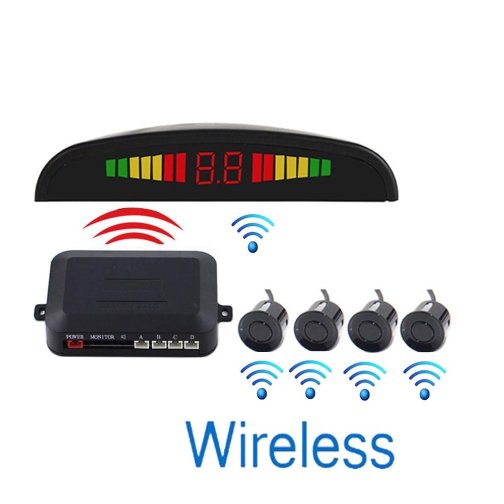 12V Car Auto Parktronic LED Parking Sensor with 4 Sensors Reverse Backup Car Parking Radar Monitor Detector System Display