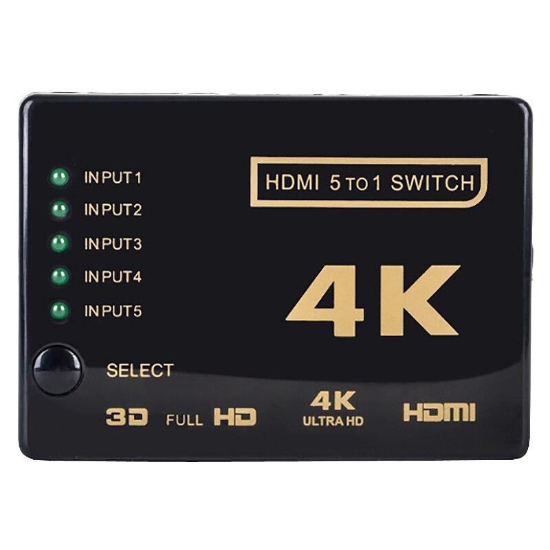 3c-multi-way quente 4k x 2k 3d 2160p hdmi switch switcher splitter ultra hd para hdtv dvd ps3
