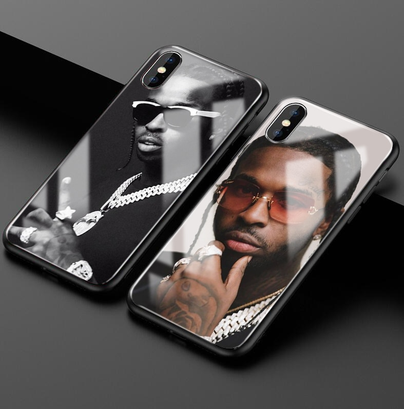 Rapper Pop Smoke usa boy glass phone case For iphone 6/6s, 6Plus/6SPlus, 7 / 8 , 7Plus/8Plus, X , XS , XR , XSMax 11pro