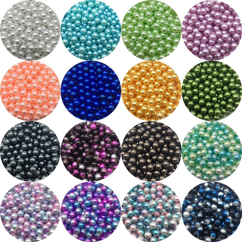 4/6/8/10mm sin agujeros cuentas espaciadoras acrílicas perlas de imitación perlas redondas sueltas para fabricación de joyería DIY perlas de vestir