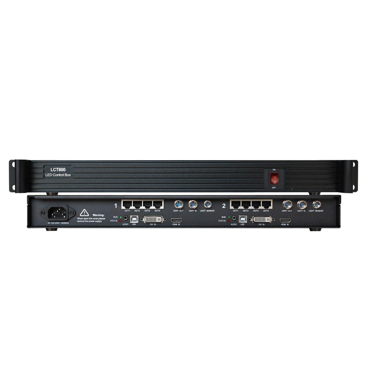 P2 P3 P4 P3.91 P2.5 P6 P5 P10 P16 64*64 128*64 LED screen panel display player Box AMS-LCT800 With 2 Novastar msd600 as Mctrl660