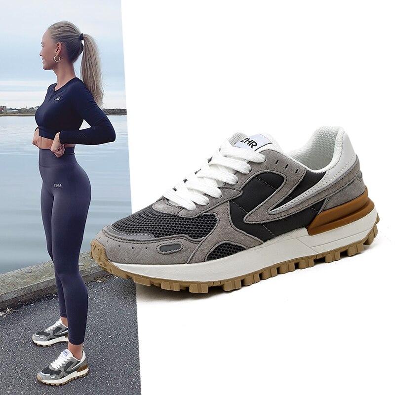 2021 جديد عادية ريترو أحذية رياضية النساء أحذية رياضية موضة تنس Runnig المدربين منصة أحذية مفلكنة المصممين العلامة التجارية الفاخرة