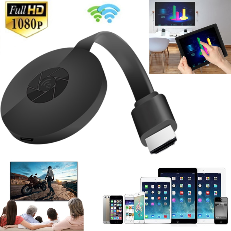 1080P Wireless WiFi Display Dongle TV Stick Video Adapter HDMI-compatible Screen Mirroring for iPhon