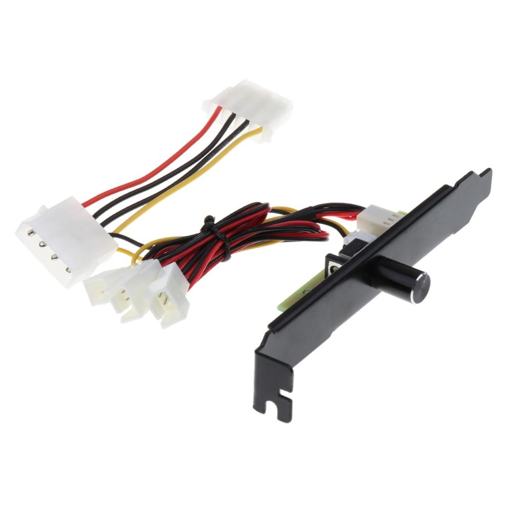 4 канала 4pin PC кулер охлаждающий вентилятор регулятор скорости кронштейн PCI 12V блок питания PCI задний слот кронштейн