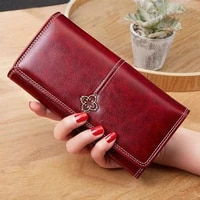 2021 new womens wallet money bag lady long leather clutch card holder mujer