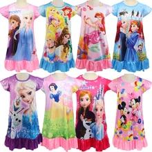 2020 Summer Fashion mickey minnie Girls Dresses Snow White anna elsa Dress princess Cartoon Kids Dress For Girls Costume