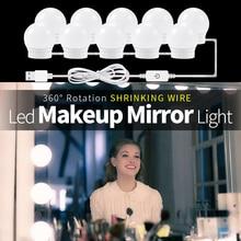 Hollywood Vanity Lights LED 12V Makeup Mirror Light Bulb Stepless Dimmable Wall Lamp 2 6 10 14Bulbs Kit for Dressing Table