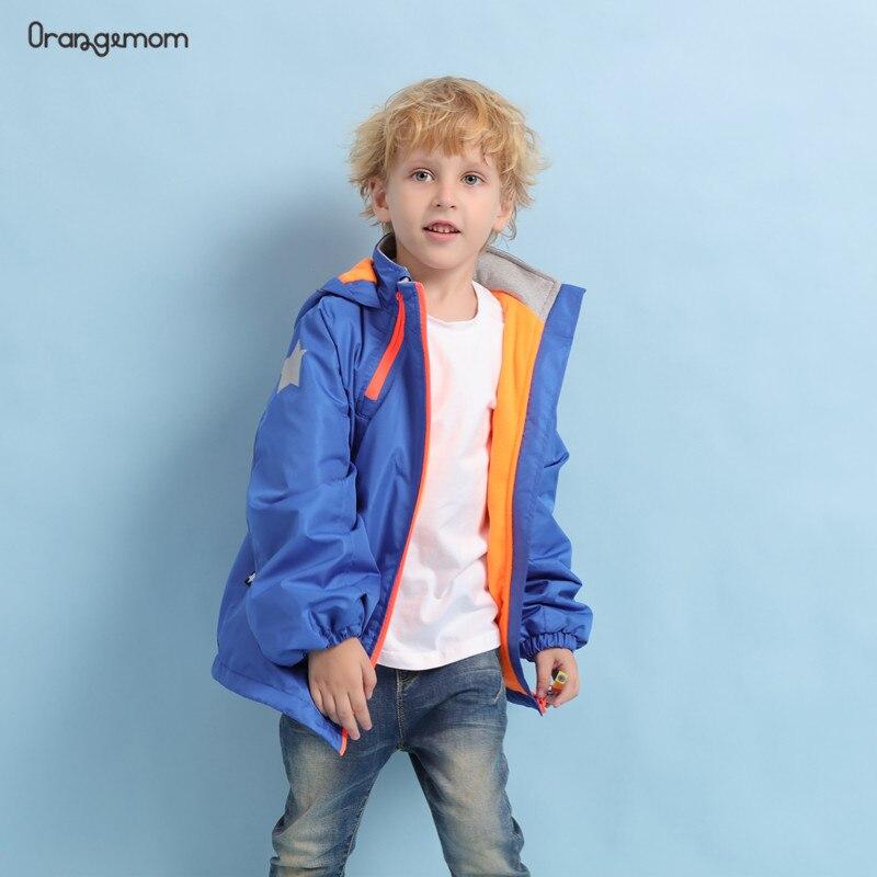 Moda 2020 chaqueta para NIÑOS 2-10 años ropa para niños rompevientos + impermeable + forro polar chaquetas interiores abrigos con capucha al aire libre