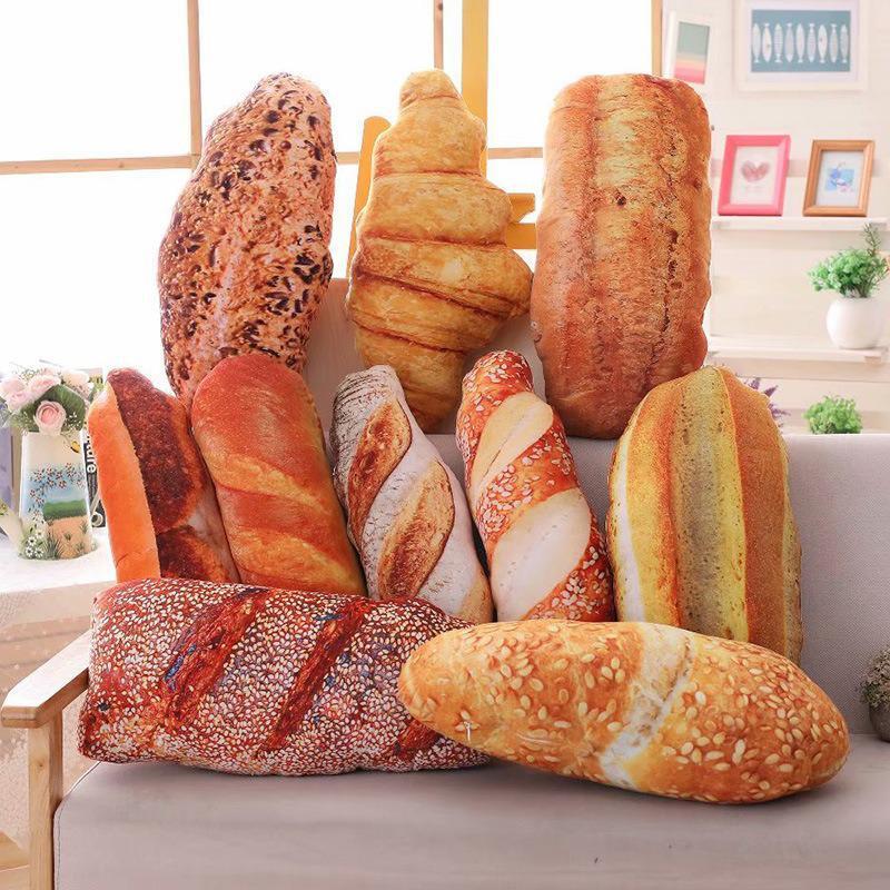 وسادة خبز قطيفة ، لعبة إبداعية ، حلوى واقعية ، طعام ، دونات ، كريم ، خبز ، وسادة أريكة ، ديكور