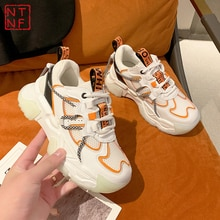 Designer Chunky Sneakers Women Sports Shoes 2021 Fashion Casual Breathable Ladies Trainers Platform