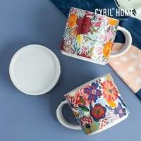 fashion ceramic mugs aesthetic creativity home modern minimalist mug coffee cups luxury couple high quality canecas mug bc50mkb