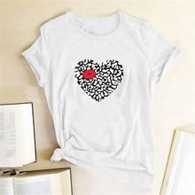 Heart Lip Printing T-shirts Women Shirts Summer Graphic Tee Aesthetic Tshirts Cotton Women Harajuku Shirt Camiseta Verano Mujer