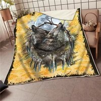 wolf fleece blanket 3d all over printed blanket wearable blanket adults for kids warm sherpa blanket drop shipping 03