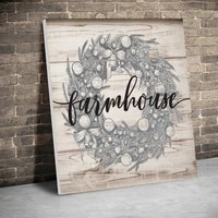 framed farmhouse wreath chrismas canvas paintings christmas posters wall art canvas prints pictures kids room home inner frame