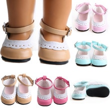 """7cm Doll Clothes Shoes Pink Blue Rose-red Shoes for 18"""" American&43cm Baby New Bron Dolls Generation Girl Toy  Mini Shoes"""