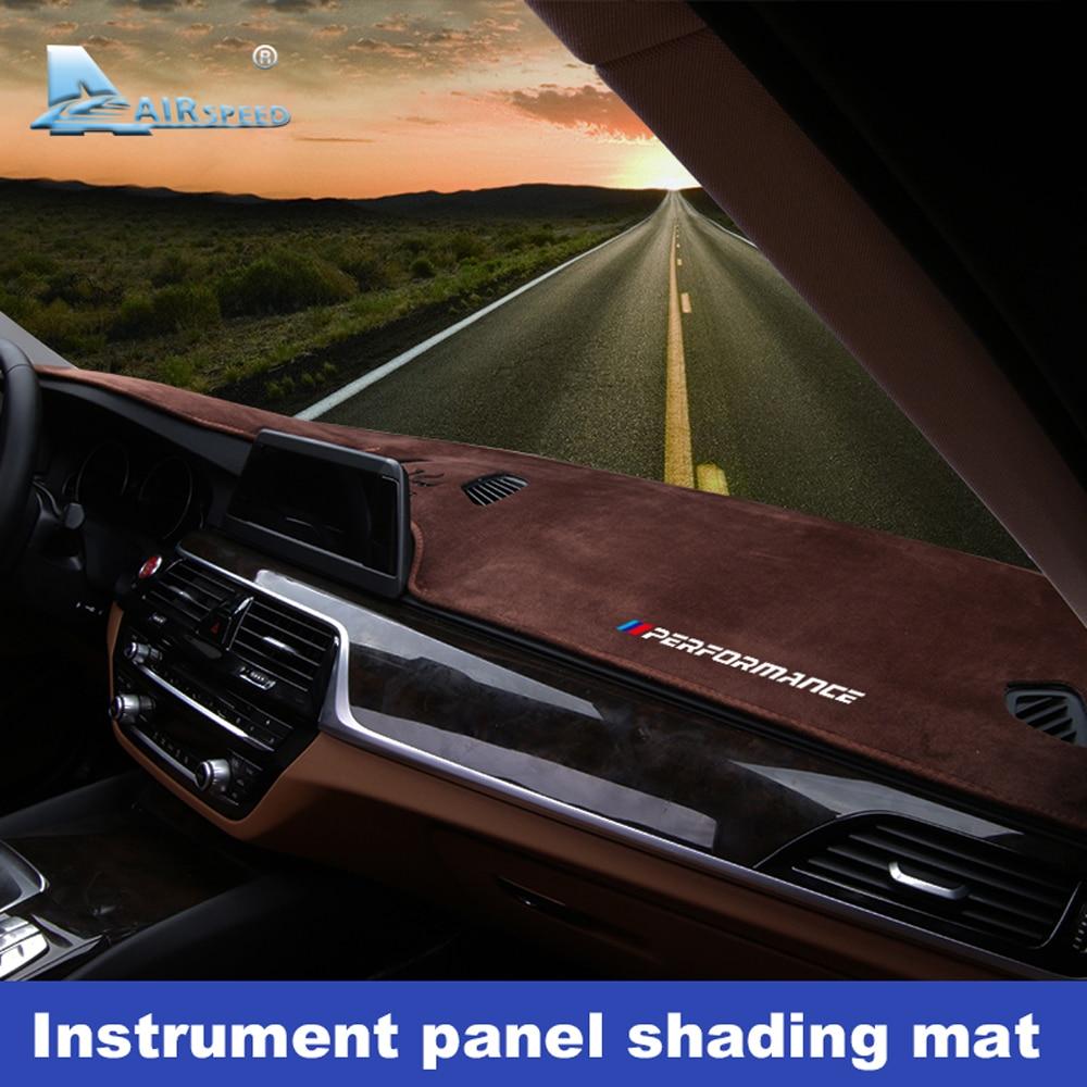 Flannel Anti Slip Anti UV Mat Dashboard Cover Pad Dashmat Carpet for BMW G30 G31 G01 F15 F85 F16 G05 F10 F07 F11 F48 Accessories