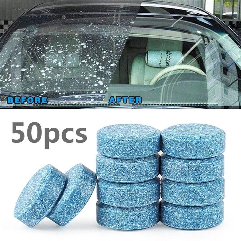Carro de Água Limpeza da Janela do Carro Sólida Pára-brisa Limpador Espelho Vidro Windsreen Detergente Tab Acessórios Domésticos 50 Pçs = 200l