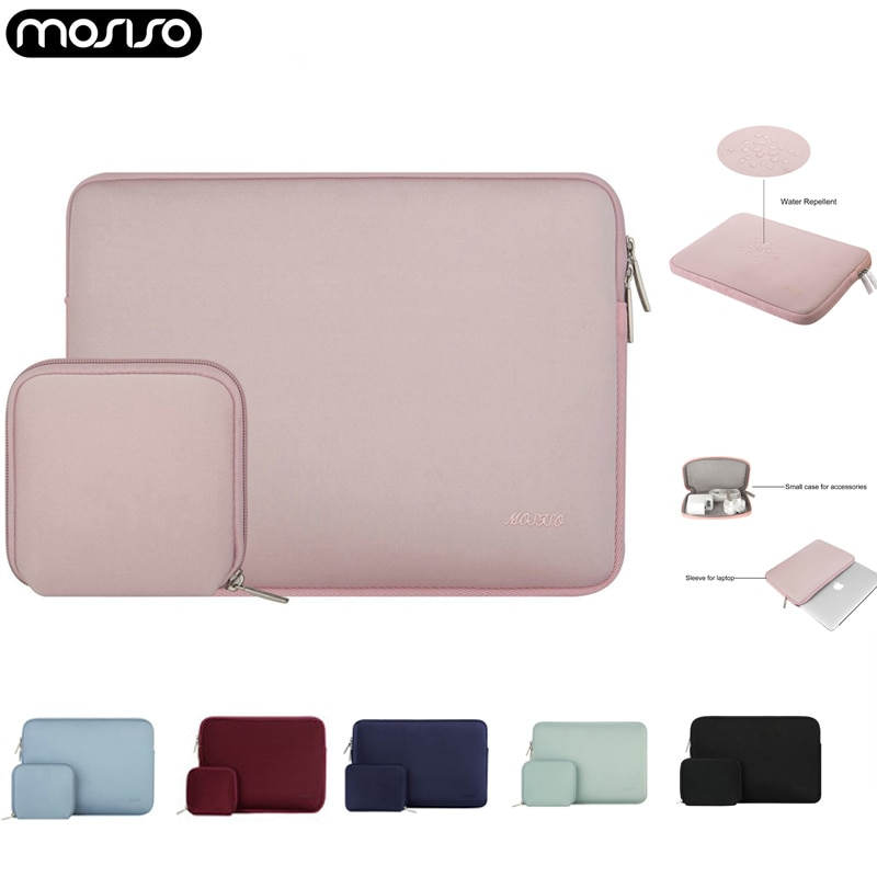 MOSISO Neoprene Laptop Sleeve Bag for 11 13 13.3 14 15 inch 2020 Macbook Air Pro Touch bar Notebook
