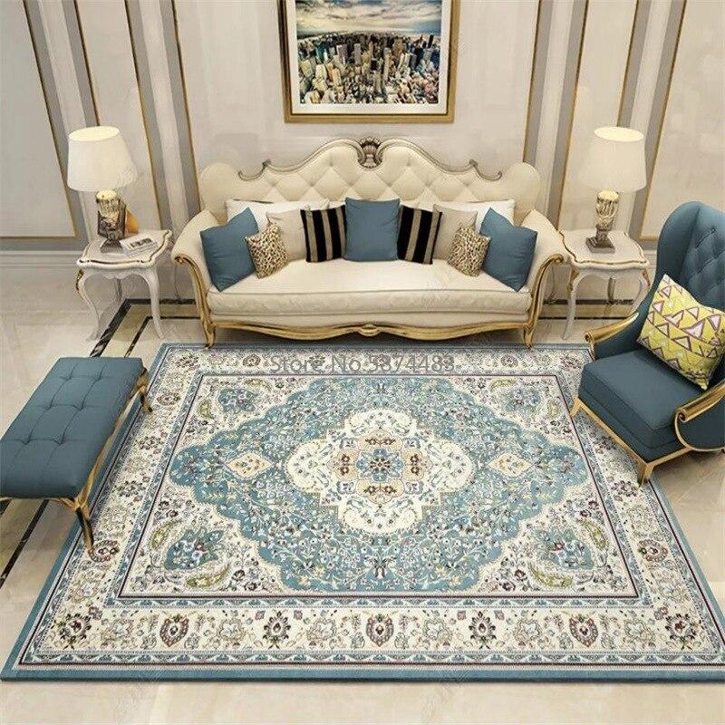 Estilo persa tapetes para sala de estar quarto decoração grande área tapetes e tapetes clássico estudo mesa de centro antiderrapante tapetes