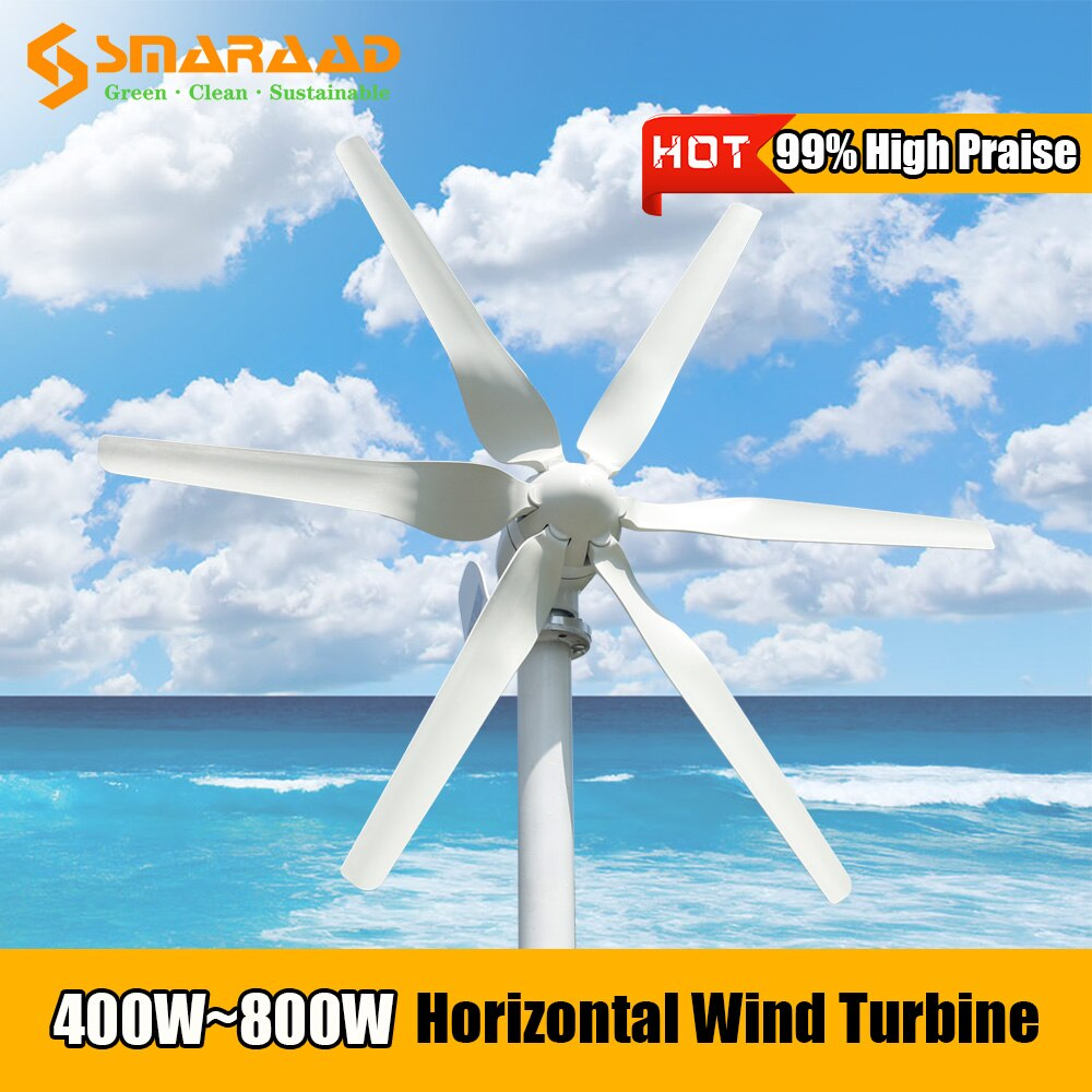 Poland Warehouse Fast Delivery 800w Free Energy  12v 24v Wind Turbine Generator With PWM Controller For Home Farm Street Lamps