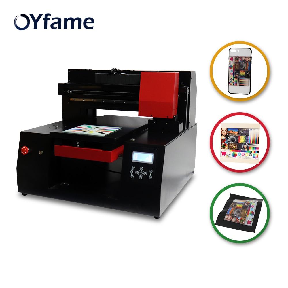 Oyfame a3 impressora uv do leito impressora de velocidade rápida para epson xp600 cabeça de impressão para a madeira de vidro do metal tpu garrafa máquina de impressão uv