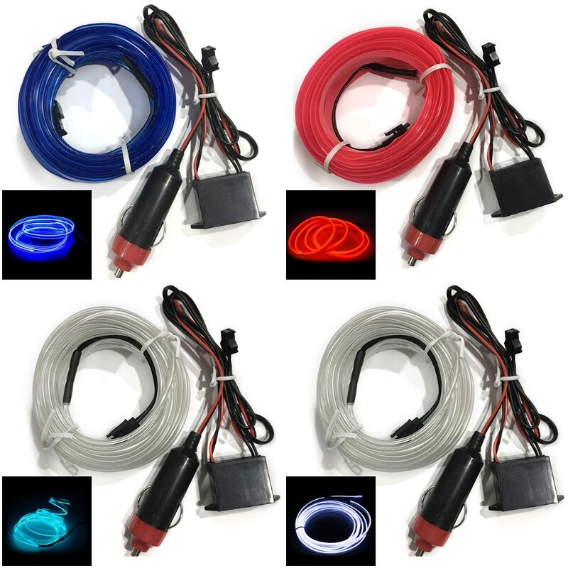 5m carro iluminação interior auto led tira el fio corda atmosfera lâmpada decorativa u90c