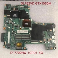gl753vd gl753vd rev%ef%bc%9a2 0 for asus laptop motherboard mainboard gtx1050m 4g mem%c3%b3ria de v%c3%addeo i7 7700hq cpu 100 teste ok