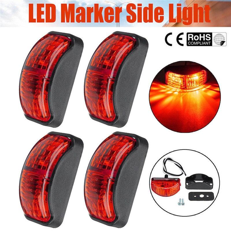 4X2 LED rojo marcador de luz intermitente para remolque camión barco luces LED impermeables 12 v camión