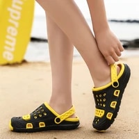 luxury man clapper sandals casual shoes summer for men loafers slippers 2021 sports rubber non leather male sandal beach mens