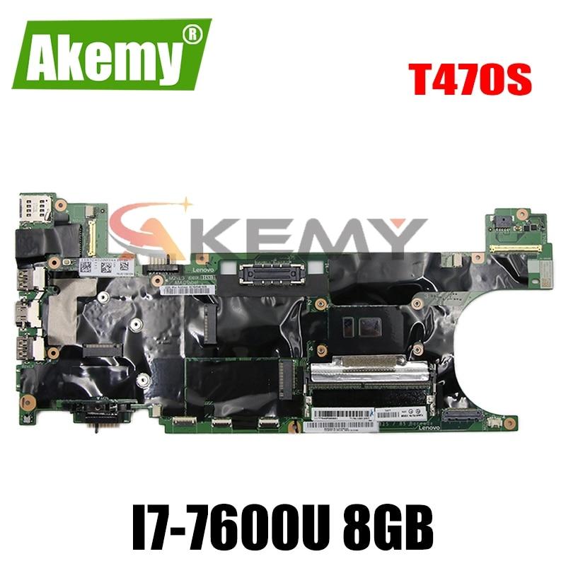 اللوحة الأم للكمبيوتر المحمول لينوفو ثينك باد T470S I7-7600U 8GB SR33Z اللوحة الرئيسية 01ER068 NM-B081 اختبار كامل