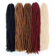 Extensions synthétiques Sisterlocs de 18 pouces   Tresses de soeur lock, Faux locs de couleurs pures, tresses au Crochet