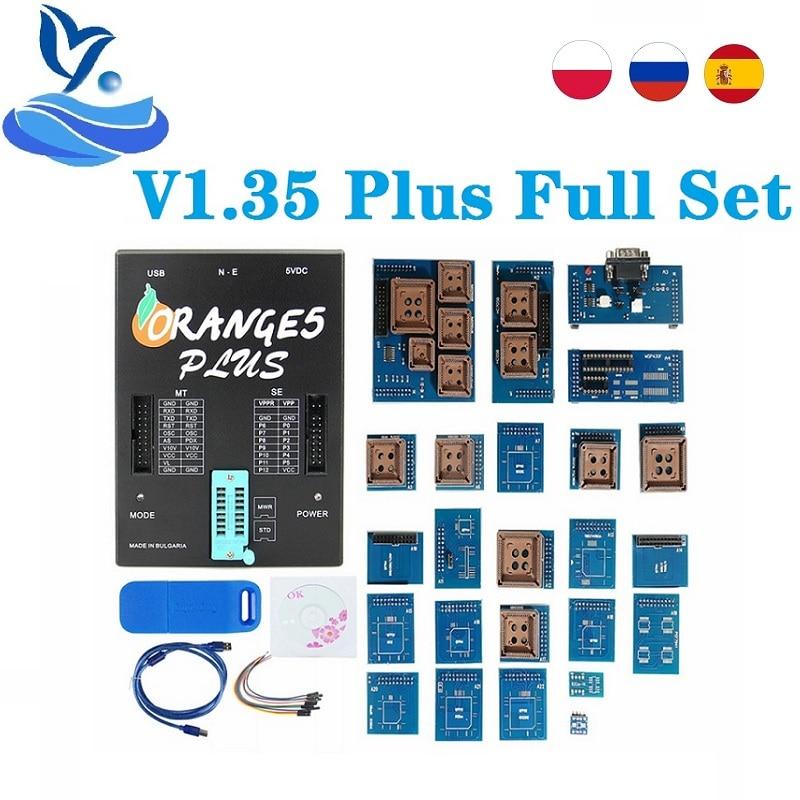 Nieuwste V1.36 Orange5 Oem Oranje 5 Ecu Programmeur Oranje 5 Universele Programer Met Volledige Adapters V1.35 Orange5 Plus