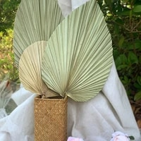 palm fan leaf dried flower palm leaf window reception party wall hanging wedding