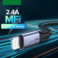usb cable for iphone 12 min 12 pro max x xr 11 2 4a fast charging lightning cable usb data cable phone charger cable