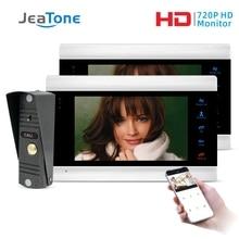 JeaTone-porte-téléphone 7 pouces   Nouveau système dinterphone WiFi intelligent IP avec AHD, sonnette caméra filaire 1.0MP, supporte déverrouillage à distance