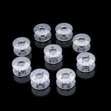 100 pces bobina de plástico 2518p multifuncional transparente bobina acessórios da máquina de costura carretel engrossado por atacado