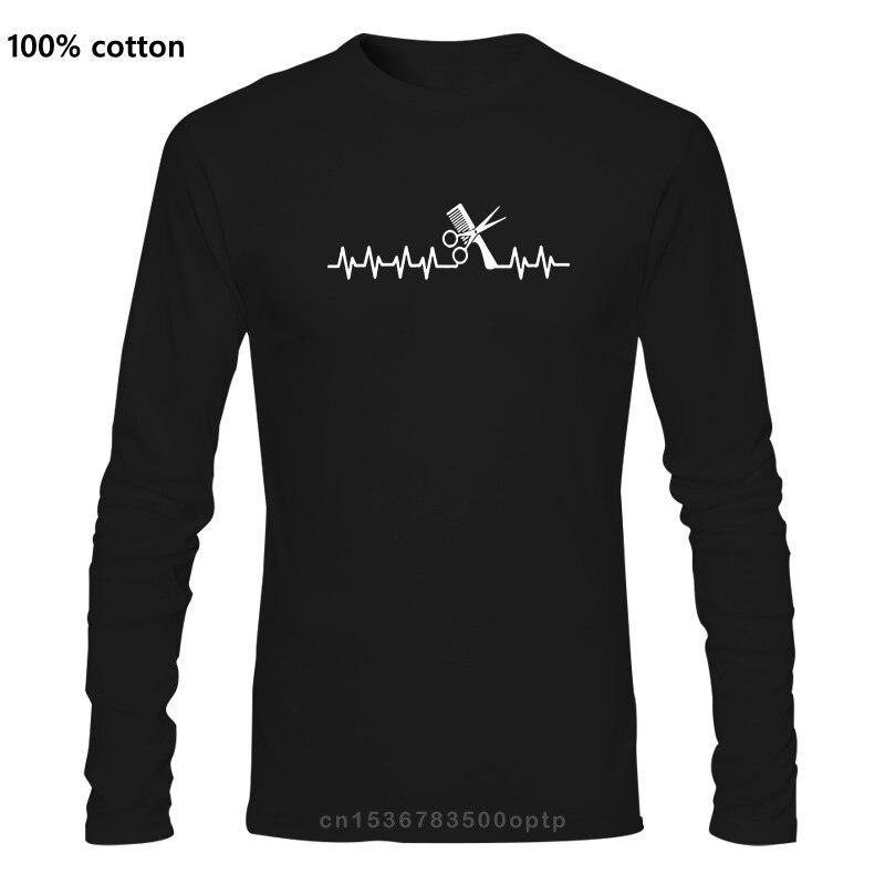T Shirts Long fashion men Buy Hairstylists Heartbeat Love Hairdresser Cotton fashion 2020 trend T-shirt
