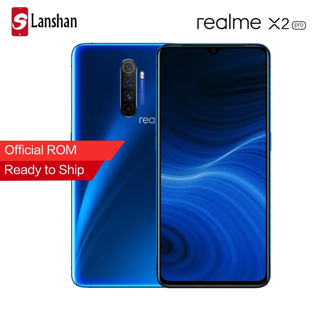 Realme X2 Pro 6.5 cala Snapdragon 855 Plus 64MP Quad Camera NFC pełny ekran OPPO Realme XT VOOC 50W super ładowarka telefon komórkowy