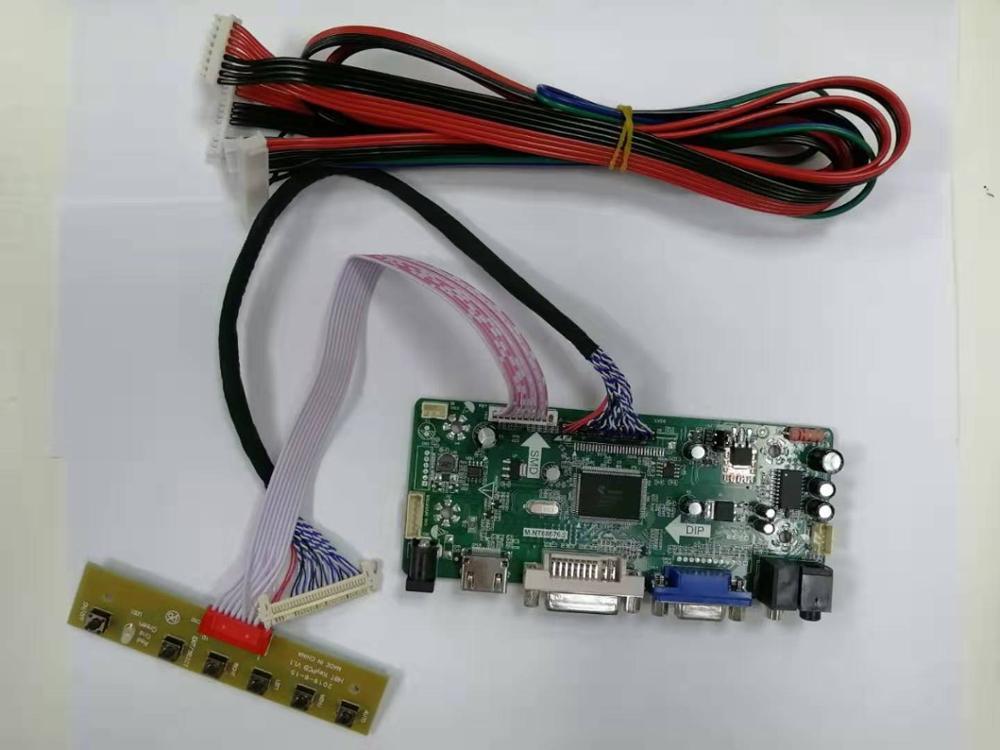 ЖК-контроллер плата драйвера комплект для LM240WU2-SLB1 1920X1200 HDMI + DVI + VGA ЖК-светодиодный экран плата контроллера