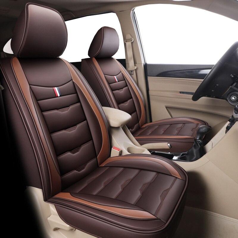 Cubierta de asiento de cuero de coche para bmw e39 f10 e60...