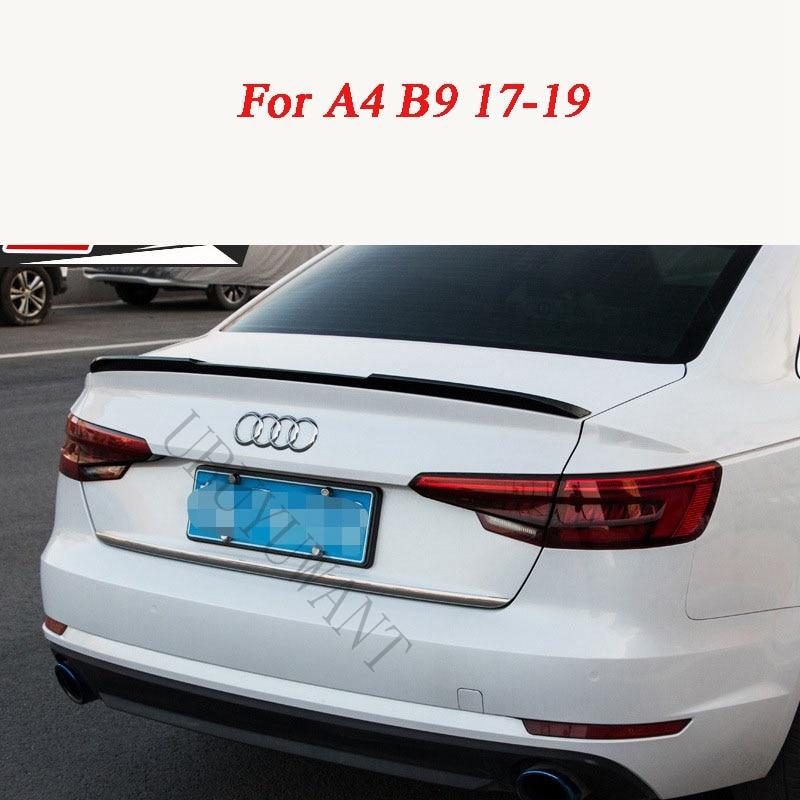 Para Audi A4 B9 2017 2018 2019 ABS sin pintar Exterior alerón trasero maletero arranque ala decoración coche estilo