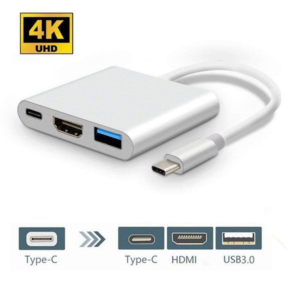 Для Apple для переключателя Type-C в Hdmi адаптер конвертер HDMI USB три в одном конвертер концентратор Usb 3,0 многофункциональный конвертер