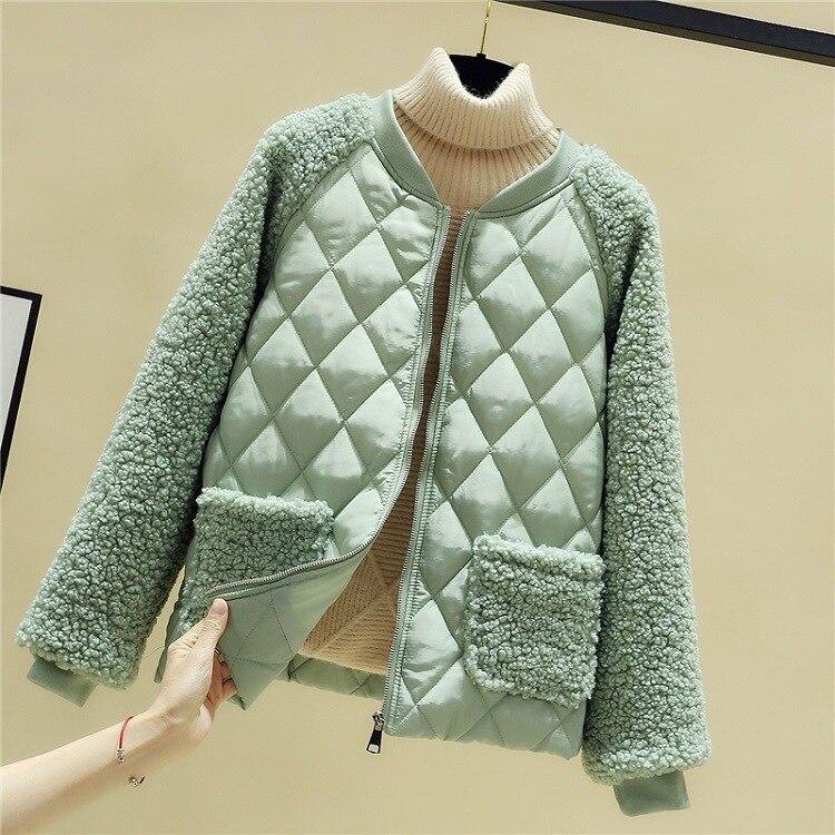 2021 женские элегантные хлопковые куртки на молнии, женские зимние толстые теплые короткие парки, теплые облегающие Женские куртки с подклад...