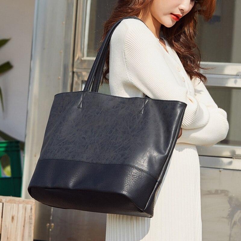 2021 fashion large-capacity handbag ladies luxury shoulder bag new style PU leather luxury casual so